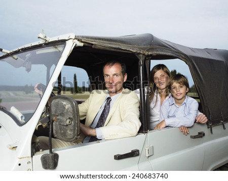 Family on Road Trip - stock photo