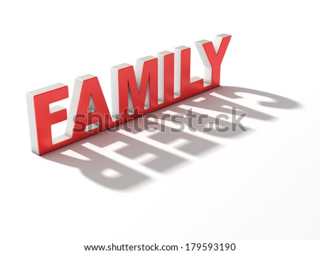 family or career 3d concept