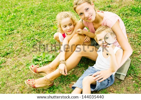 Family portrait - stock photo