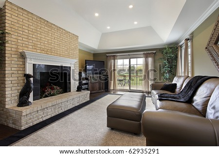 brick fireplace interior design brick fireplace stock images royalty free images vectors