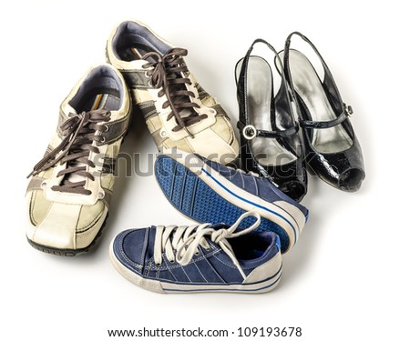 Family shoes - stock photo