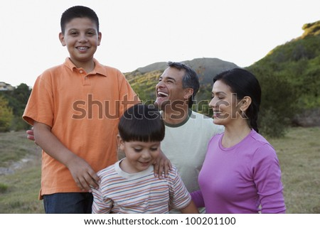 Family smiling together