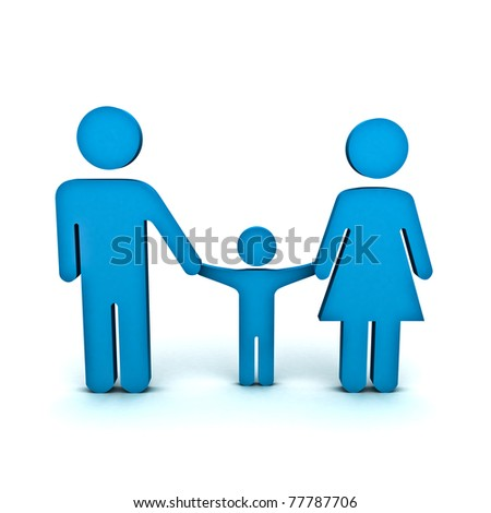 Family Symbol - stock photo