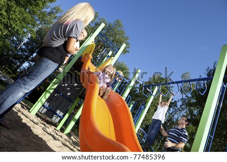 Family time at the park