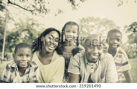 Family Togetherness Unity Parents Son Daughter Concept - stock photo