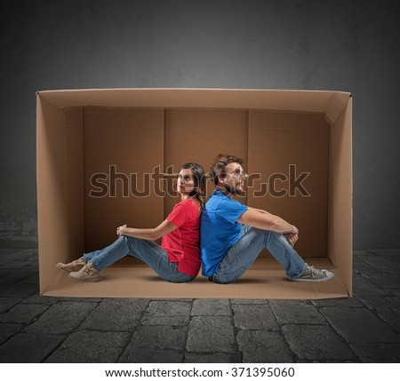 Family with economic problems - stock photo