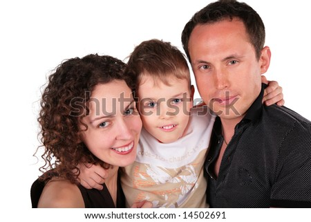 family with son portrait