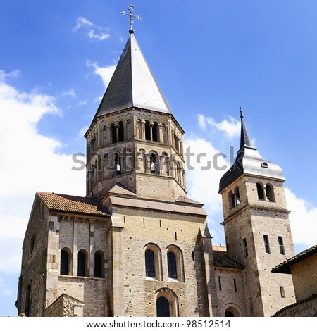 Famous abbey of Cluny, Burgundy, France