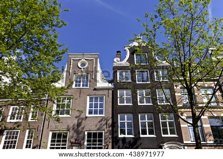 Famous architecture of Amsterdam, Netherlands, Europe