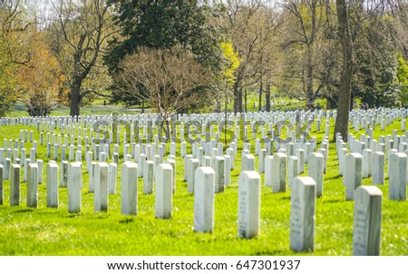 Famous Arlington Cemetery in Washington - WASHINGTON / DISTRICT OF COLUMBIA - APRIL 8, 2017