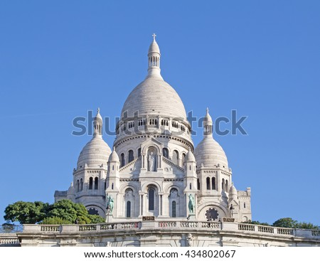 Famous Basilica of the Sacred Heart of Paris