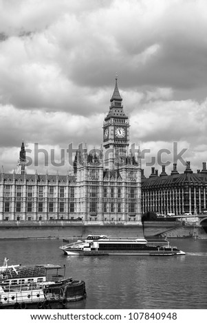 Famous Big Ben in London, England - stock photo