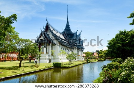 Famous Buddhist temple in Thailand