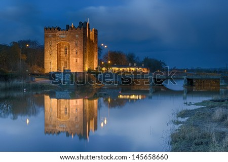 famous bunratty castle, county clare, ireland - stock photo