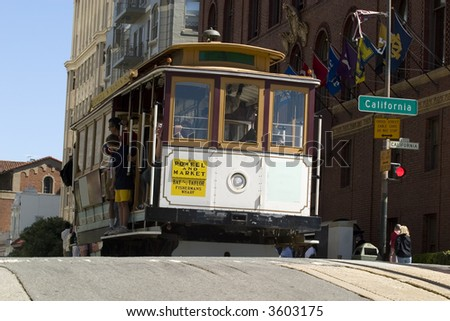 Famous Cable Car in San Francisco California