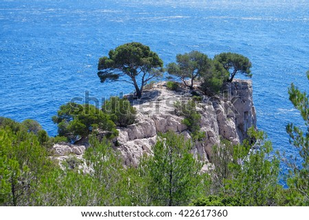 Famous Calanques between Cassis and Marseilles, South of France - stock photo