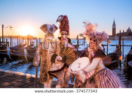 stock photo famous carnival in venice italy 374577343 - Каталог — Фотообои «Венеция»