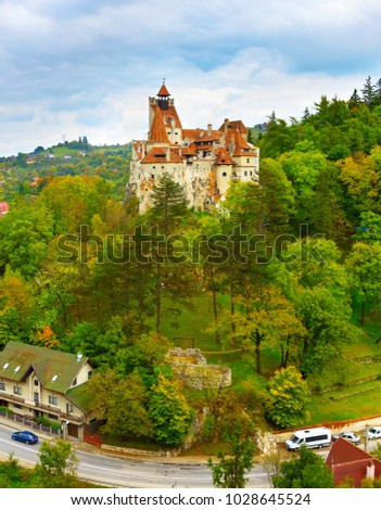 Famous Castle of Bran, known as Count Dracula Castle. Romania