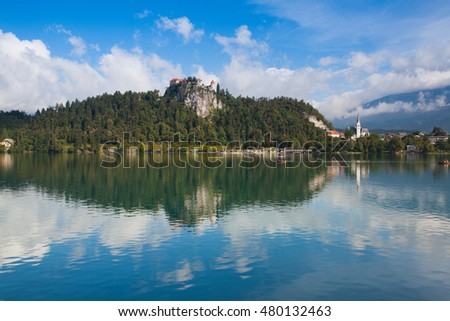 Famous castle on the Bled lake, Slovenia