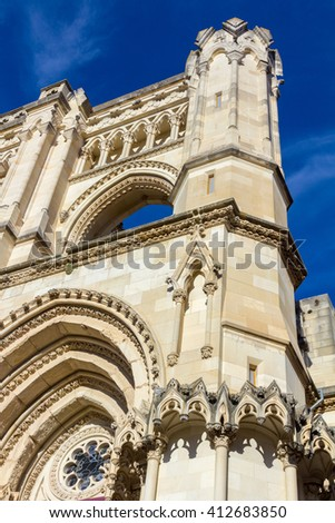 Famous Cathedral of Cuenca in Spain