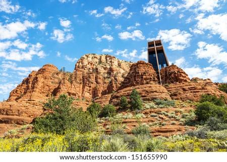 Famous chapel of the Holy Cross, Arizona, USA - stock photo