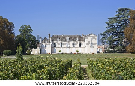 famous chateau meursault in bougogne france - stock photo