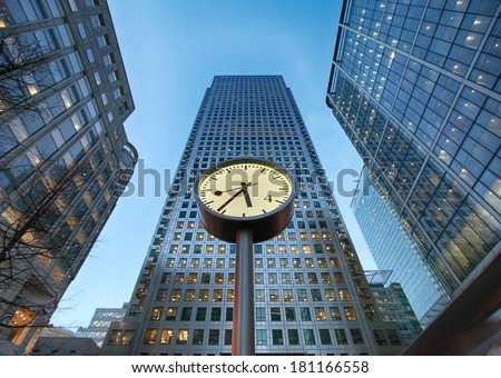 famous clock at Reuters Plaza  - stock photo