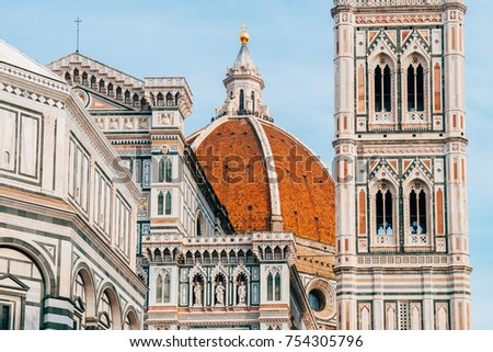 famous duomo cathedral florence italy stock photo safe to use