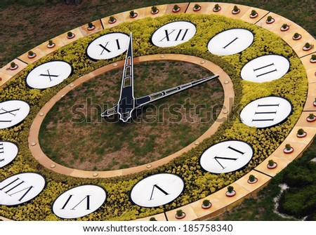 Famous flower clock, landmark of Kiev, Ukraine