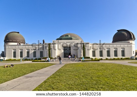 famous Griffith observatory in Los Angeles - stock photo