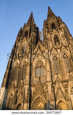 Famous historical building of Cologne cathedral, Germany - stock photo