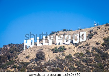 Famous Hollywood landmark in Los Angeles, California - stock photo