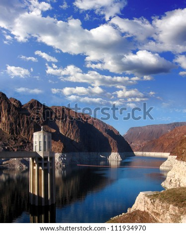 Famous Hoover Dam in Nevada, US - stock photo