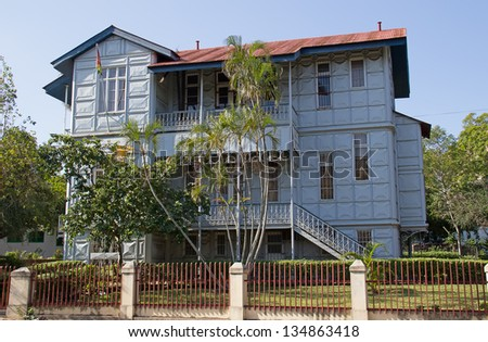 Famous Iron House build in the 19th century in Maputo, Mozambique - stock photo