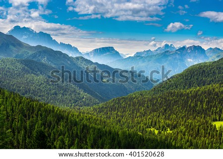 famous Italian  Dolomites alps - stock photo