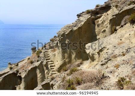 Famous Italian Salina Beach View - Sicily - stock photo