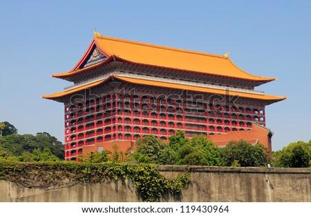 "Famous landmark ""the grand-hotel"" , Taipei , Taiwan - stock photo"