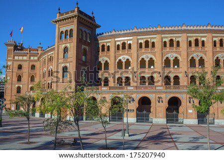 Famous Las Ventas Bullring in Madrid, Spain