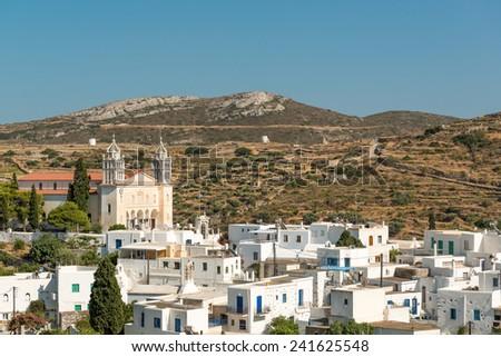 Famous Lefkes village on Paros island, Greece - stock photo