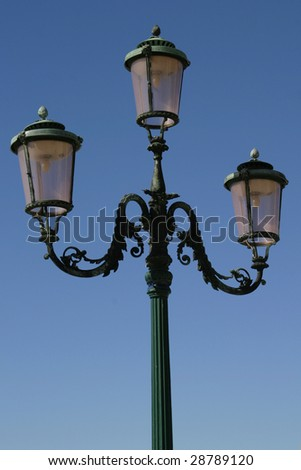 Famous lightposts from Venice Italy