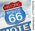 Famous Motel sign on Route 66 USA  - stock photo