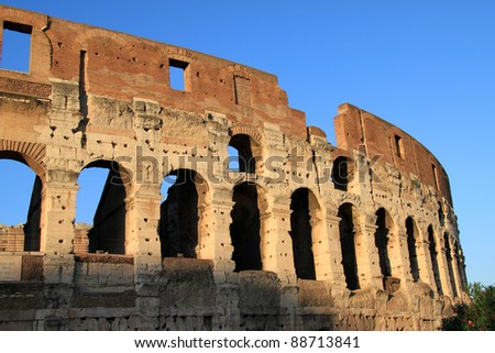 Famous old great Colosseum in Rome, Italy