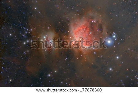 Famous Orion nebula in the constellation of Orion.