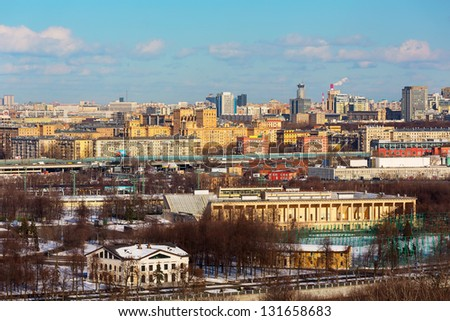 Famous Panoramic View of Moscow in the Spring, Russia
