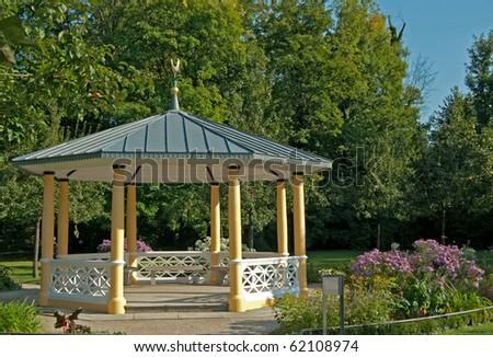 garden pavilion stock images royalty free images. Black Bedroom Furniture Sets. Home Design Ideas