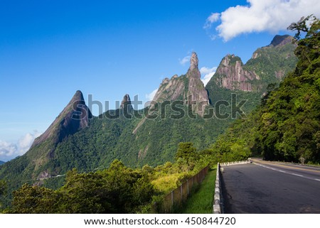 famous peaks of national park Serra dos Orgaos at Brazil