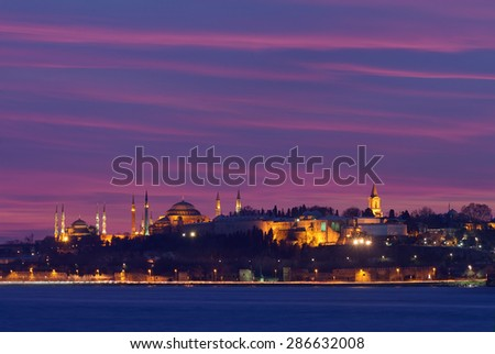 Famous peninsula of istanbul - stock photo