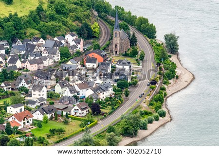 famous popular Wine Village of Boppard at Rhine River,middle Rhine Valley,Germany