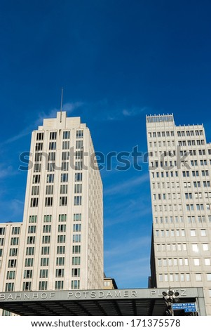 Famous Potsdamer Platz in Berlin, Germany.