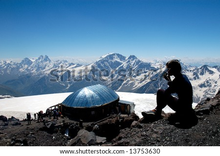 Famous Refuge Of the Eleven near Elbrus in Caucasian mountains